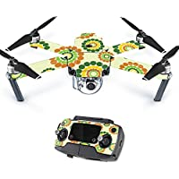 MightySkins Protective Vinyl Skin Decal for DJI Mavic Pro Quadcopter Drone wrap cover sticker skins Hippie Flowers