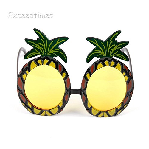 Beach Party Fruit Pineapple Funny Sunglasses Flamingo Party Decoration Hawaiian Beach Eyewears (Pine - Sunglasses Gif