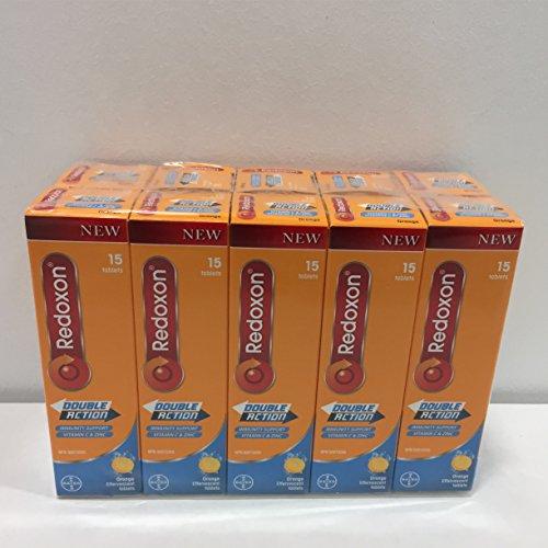 Amazon.com: Redoxon Double Action Orange Effervescent Tablets, 1000mg Vitamin C & 10mg Zinc, 4x15 vials: Health & Personal Care
