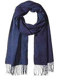Armani Exchange Men's Knit Wool Blend Scarf with Large Eagle Logo