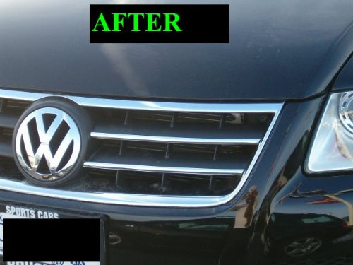 2004-2010 VW VOLKSWAGEN TOUAREG CHROME GRILL GRILLE KIT 2005 2006 2007 2008 2009 04 05 06 07 08 ...