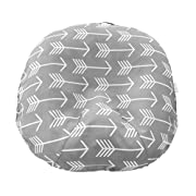 Water Resistant Removable Cover for Newborn Lounger   Unisex Gray Arrow Design   Premium Quality Soft Wipeable Fabric   Great Baby Shower Gift   Mila Millie (Gray Arrow)