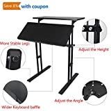 Heyesk Stand up Desk Height Adjustable Home Office Desk with Standing (Black)