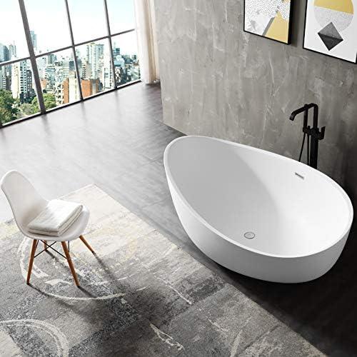 180 x110 x 62 cm Baignoire /îlot en acrylique sanitaire WAVE blanc brillant Siphon pour baignoire /îlot:Sans siphon robinetterie en option Robinet mitigeur sur pied:Sans robinet mitigeur