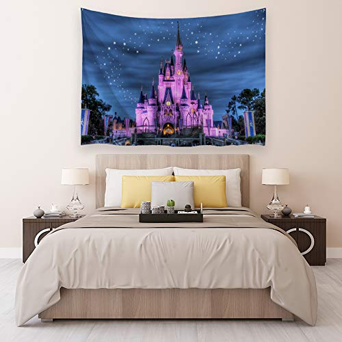 Ortigia Tapestry Wall Hanging Home Decor for Living Room Bedroom Dorm Room Polyester Fabric Needles Included - 80