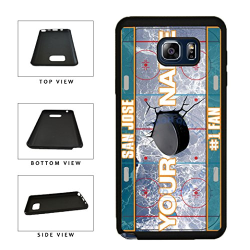 BleuReign(TM) Personalized Custom Name Hockey Team License Plate San Jose Phone Case TPU RUBBER SILICONE Phone Case Back Cover For Samsung Galaxy S8