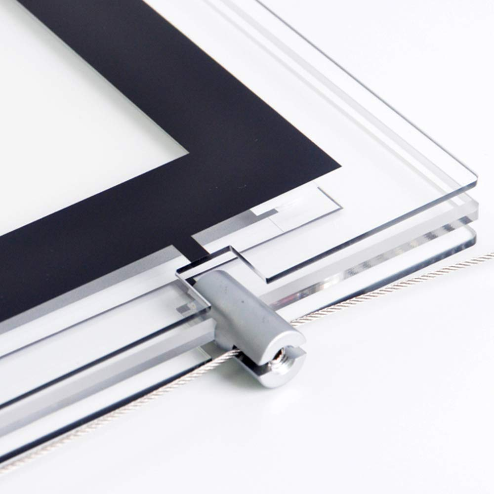 A4 Landscape Real Estate Window Hanging Display Office Led Acrylic Poster Frame Light Box Sign Holder (5pcs A4 a raw, Horizontally)