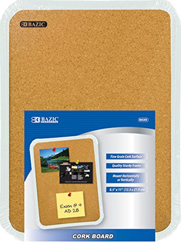 BAZIC 6020 8.5 X 11 Cork Board