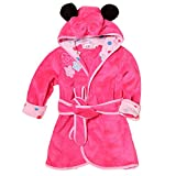 Baby Hooded Cartoon Animal Plush Bathrobe for Boys Girls 1-6 Year