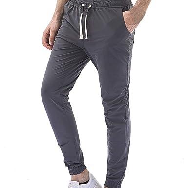 HaiDean Pantalones para Hombres Cargo De Jogger Pantalones ...