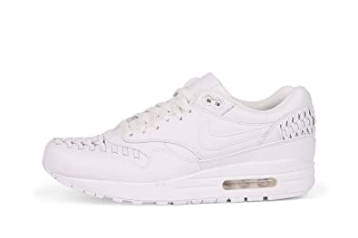 los angeles b4a96 39110 Nike Men s Air Max 1 Woven Training Running Shoes White Size  6