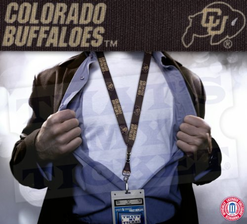 Colorado Buffaloes Keychain - WinCraft NCAA University of Colorado Lanyard with Breakaway, 3/4
