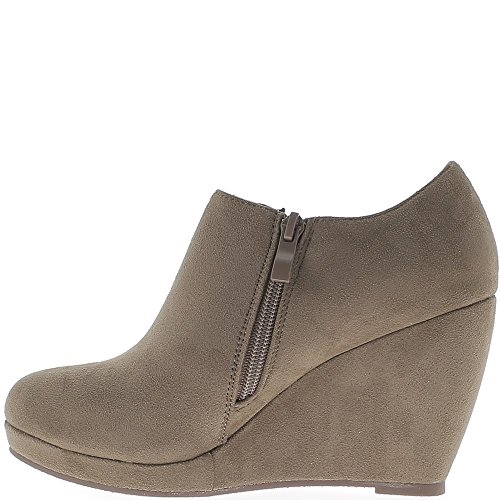 Wedge boots taupe 9cm aspect suede heel zJm6XyV