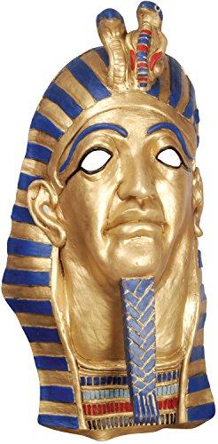 Golden Royalty Mask - Loftus International Star Power Egyptian Mummy Pharaoh Latex Mask Gold Blue Red One Size Novelty Item