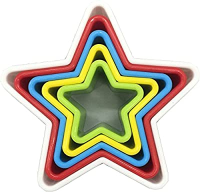 LUXEHOME Colorful BPA Free Plastic Biscuit and Cookie Cutters