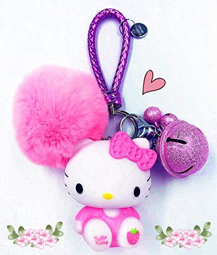 Hello Kitty Key Chain for Girls Women ❤Hello Kitty Gifts❤ | Hello Kitty Figures Sanrio Birthday Gift Bag Accessories -