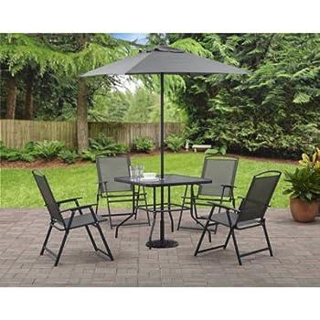 Amazoncom Outdoor 6Piece Folding Patio Dining Furniture Set