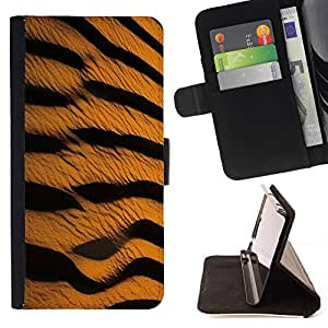 Momo Phone Case / Flip Funda de Cuero Case Cover - Patrón Tiger Cat Wild Safari Arte Naturaleza - LG G4 Stylus H540