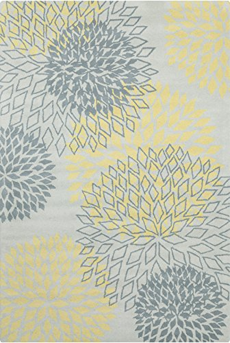 Chandra Rugs Stella Area Rug, 60-Inch by 90-Inch, Gray/Yellow