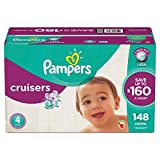Pampers Cruisers Diapers (Size 4, 148 ct.)
