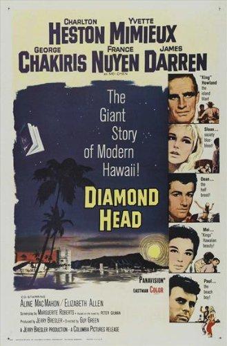 Diamond Head Poster Movie Charlton Heston Yvette Mimieux George Chakiris France Nuyen