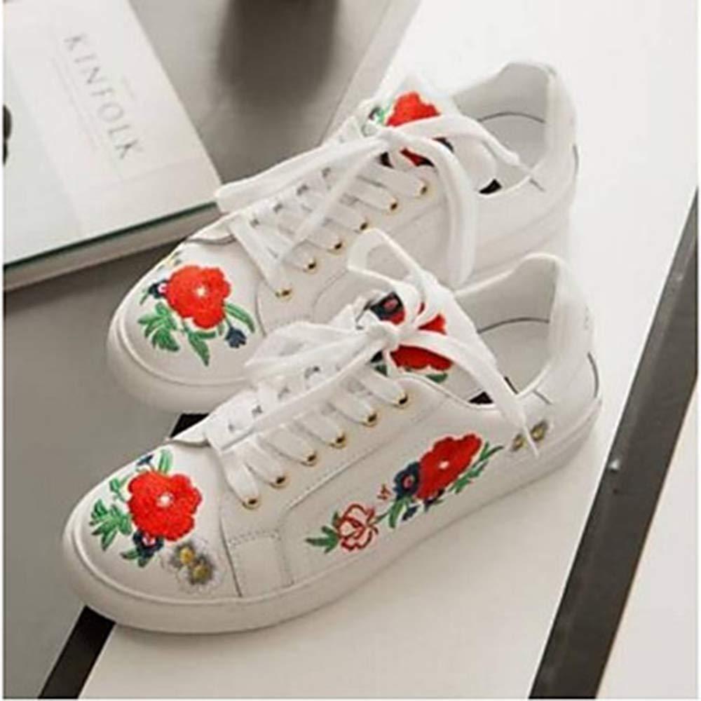 TTSHOES Nappa Femme Chaussures en Cuir été Nappa Printemps 16679 et été Confort des Chaussures Talon Plat Bout Rond Blanc blanc 2a44e9b - boatplans.space