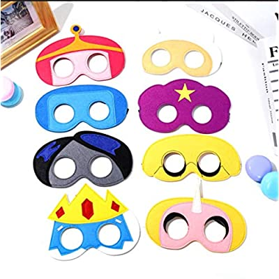 All Star Games Birthday Party Favors Felt Masks Novelty Toys Birthday Gifts for Adventure Time Supplies (8 PCs): Clothing