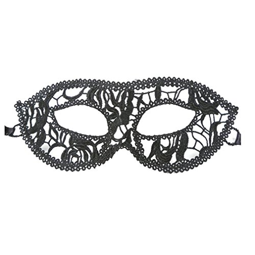 Funny Guy Costume 2016 (SUPPION 2016 Women Butterflies Sexy Black Lace Mask, Elegant Cutout Eye Face Mask Masquerade Ball Carnival Fancy Party (D))
