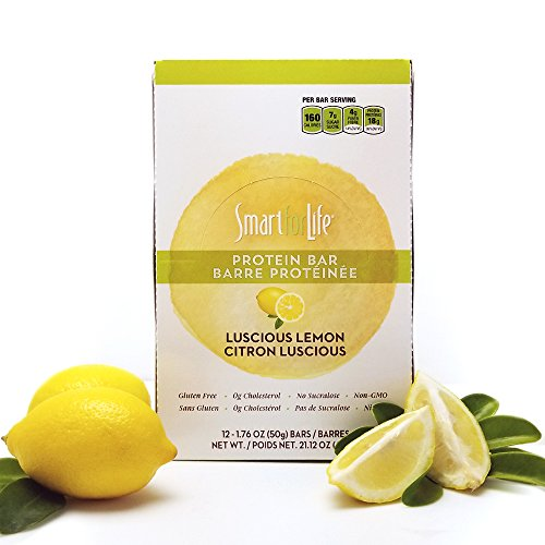 Smart for Life - Top Quality, Luscious Lemon, Low Sugar, Pack of 12 Protein Bars 21.12 oz.