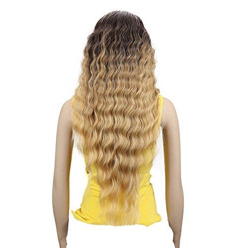 Joedir Lace Front Wigs 30'' Long Wavy Synthetic Wigs For Black Women 130% Density Wigs(TAT6/27/24E)