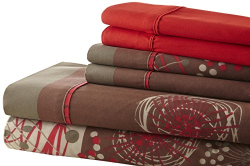 Brown And Red Bedding - 7