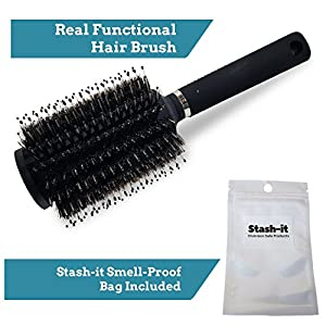 Hair Brush Diversion Safe Stash with Smell Proof Bag by Stash-it - Can Safe - Secret lid on top opens to store your valuables!