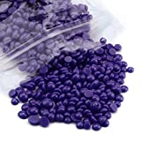 Depilatory Wax,OVERMAL No Strip Depilatory Hot Film Hard Wax Pellet Waxing Bikini Hair Removal Bean (Purple)