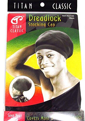 be8533bd278 Titan Classic Black Dreadlock Stocking Cap - 2 Pieces