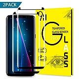 Samsung Galaxy S8 Screen Protector, Liaointec Tempered Glass Screen Protector 0.3mm Full Screen Coverage Scratch Resistant Ultra HD Glass, No Bubble,Screen Protector for Samsung Galaxy S8(2 packs)