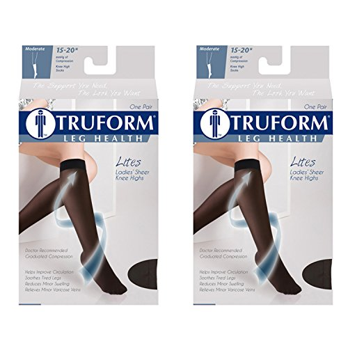 Truform Compression 15-20 mmHg Sheer Knee High Stocking