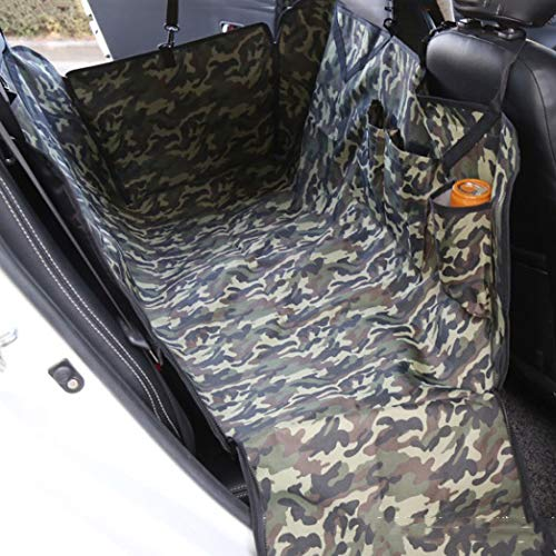 GX&XD Heavy Duty Camo Dog car seat Cover,600d Waterproof Oxford Cloth Padded Pet seat Covers Pad Scratch Proof Hammock Pet Back seat Covers Backseat Protection-A