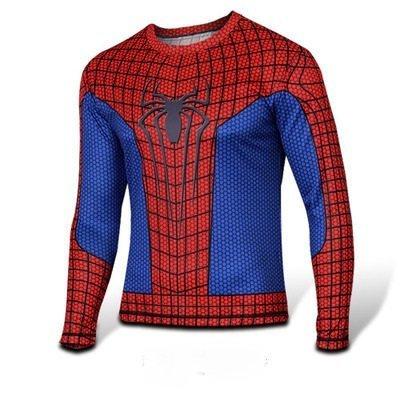 人気ブラドン spiderman 風 T-シャツ 長袖 風 スパイダーマン T-シャツ 風 アニメTシャツ 風 コスプレ衣装 コスチューム(赤&黒) (S, 赤) B00O6QKHFC, ビーエックス オンラインショップ:64b5710d --- a0267596.xsph.ru