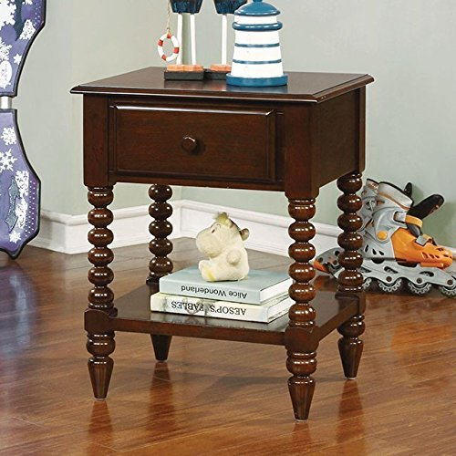 Lindsey Cottage Style Espresso Finish Youth Nightstand