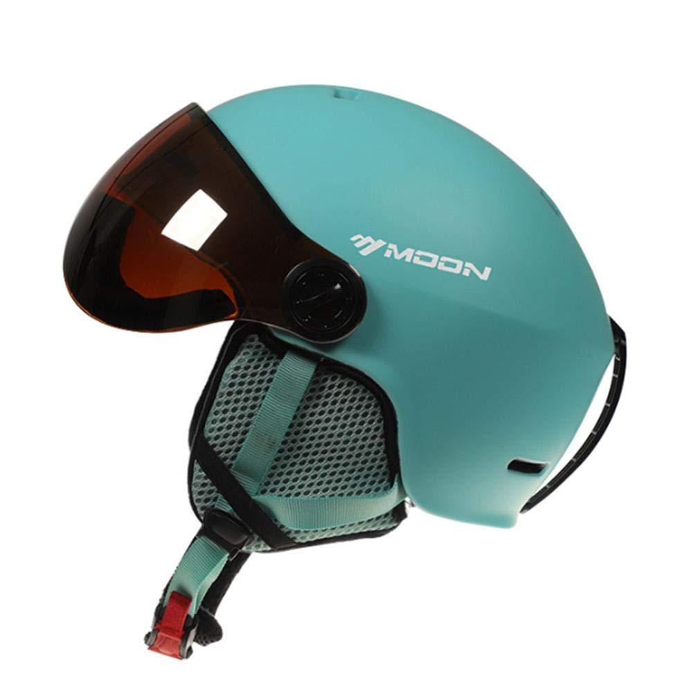 Unisex Casco Sportivo per Adulti Steadyuf Casco da Sci Set con Occhiali da Sci Visiera Sci Occhiali Protection e Antivento Casco e Occhiali da Neve per Sport Invernali