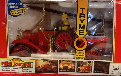 1914 Model T Fire Engine with Interactive Functions (Battery-operated)