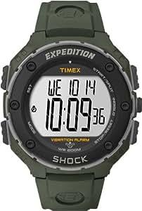 Timex Expedition T49951SU - Reloj digital de cuarzo para hombre con correa de resina, color verde