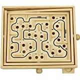 Micord Original Wooden Labyrinth Puzzle Solitaire Maze Game for Kids and Adults - Educational