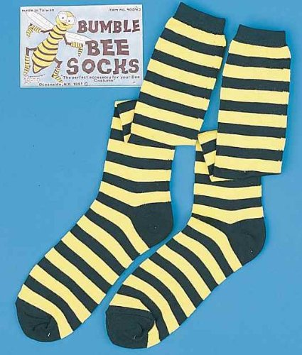 Adults Womens Costumes Stockings (Striped Bumble Bee Socks)