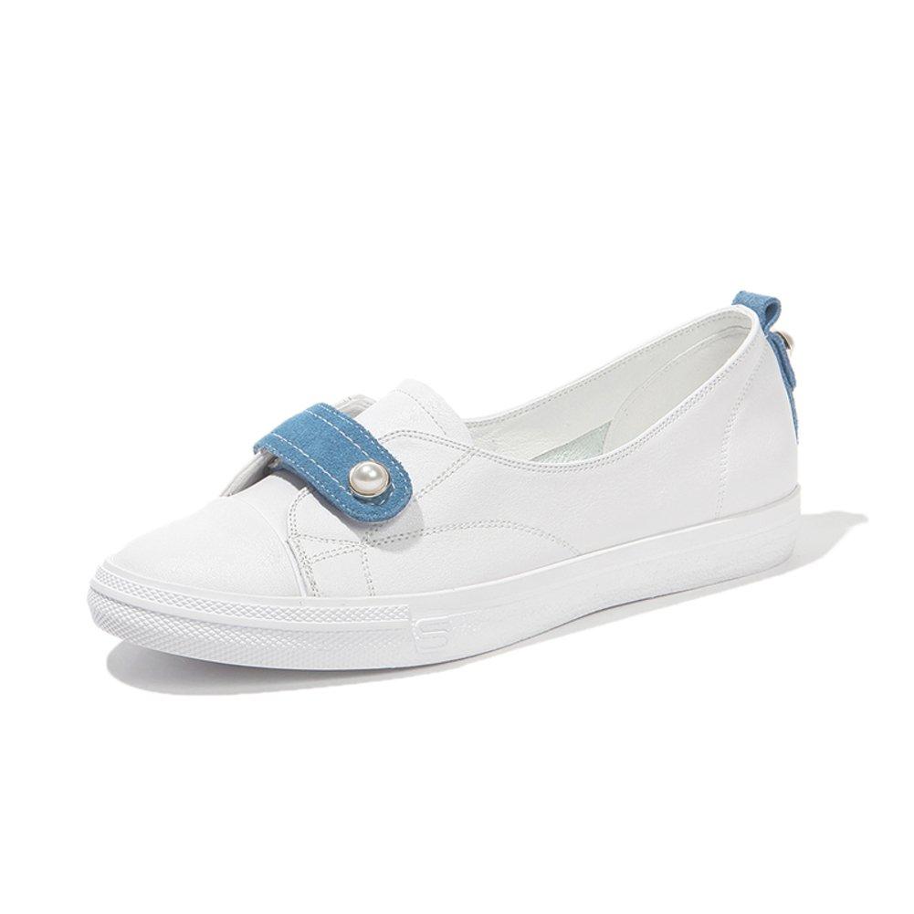 Dicken Sohlen,Kleine Weiße Weiße Weiße Schuhe/Dame,Sommer,Flach,Nude Schuhe A cb1ead
