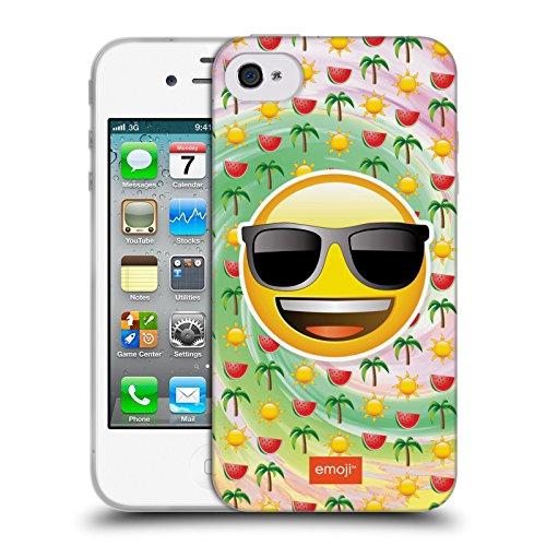 Officiel Emoji Été Smileys Étui Coque en Gel molle pour Apple iPhone 4 / 4S