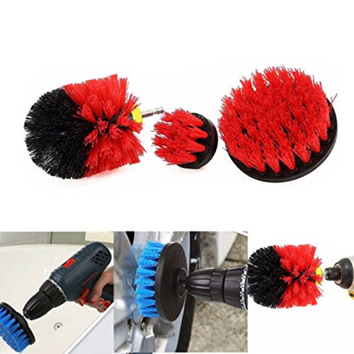 Aoile Tile Grout Power Scrubber Cleaning Brushes Cleaner Set