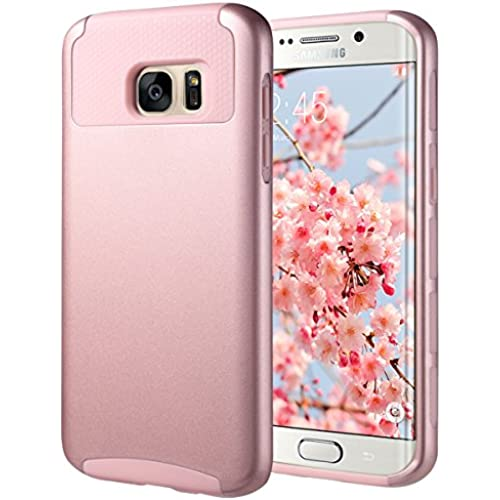 S7 Edge Case,Galaxy S7 Edge Cases,ULAK Slim Case Hybrid Dual Layer Cover 2 Piece Hard PC Shell Case Soft TPU Bumper for Samsung Galaxy S7 edge, Rose Sales