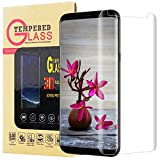 Galaxy S8 Screen Protector,Galaxy S8 Tempered Glass,Lyche Bubble-Free [Anti-Scratch] [Case Friendly] Tempered Glass Screen Protector for Samsung Galaxy S8