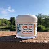 SUN FUN Organic Zinc Oxide Cream | Prevent Sun Damage and Hydrate | Kids and Baby Safe | Sensitive Skin | Herbalist Made & Vegan | Cell Renewing Lotion with Aloe Vera | EcoCert Ingredients
